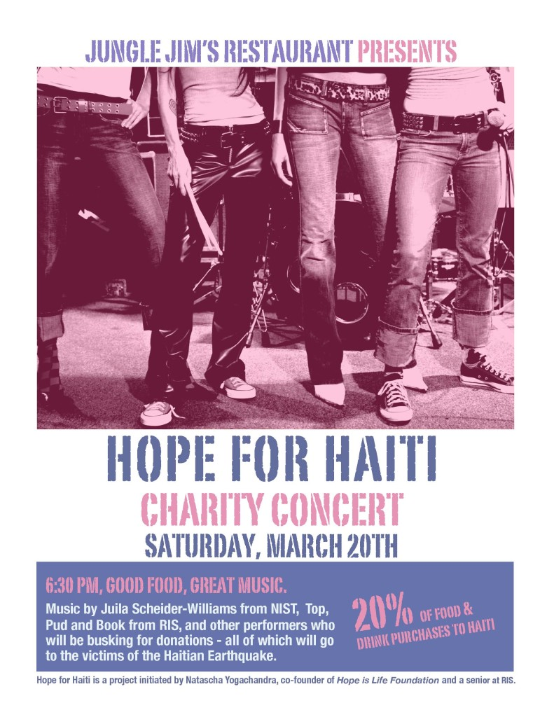 Haiti concert Banner