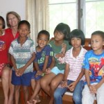 Mrs. Deborah Yogachandra of Hope is Life Foundations is seen with some of the children at the shelter home of Fr. Ray Foundation, Pattaya, Thailand.